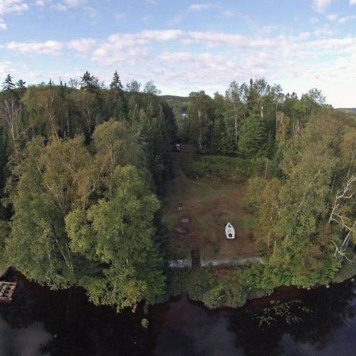 chemin du lac ludger drone shot