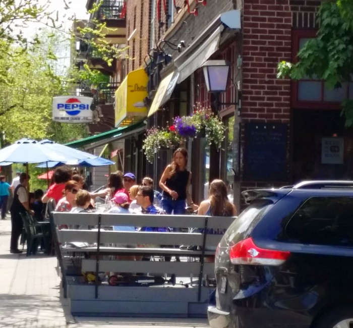Outremont, Bernard Street, Outremont Shopping and Restaurants, Outremonts Les Enfants Terrible Café