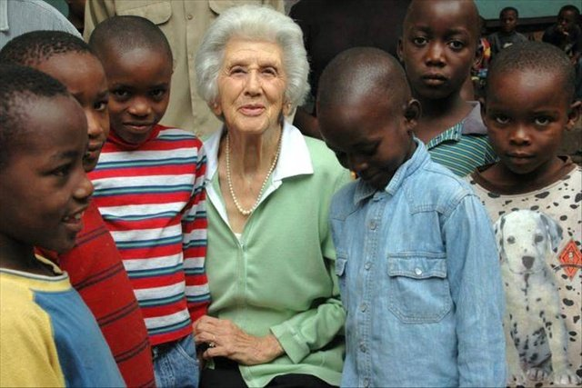 Rosamond Halsey Carr at the Imbabazi Orphanage